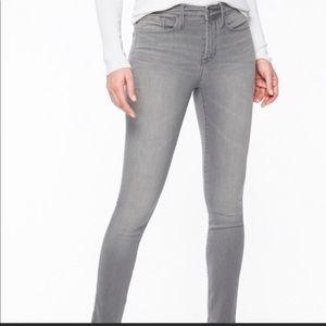 Athleta Sculptek gray skinny jeans size 8. EUC